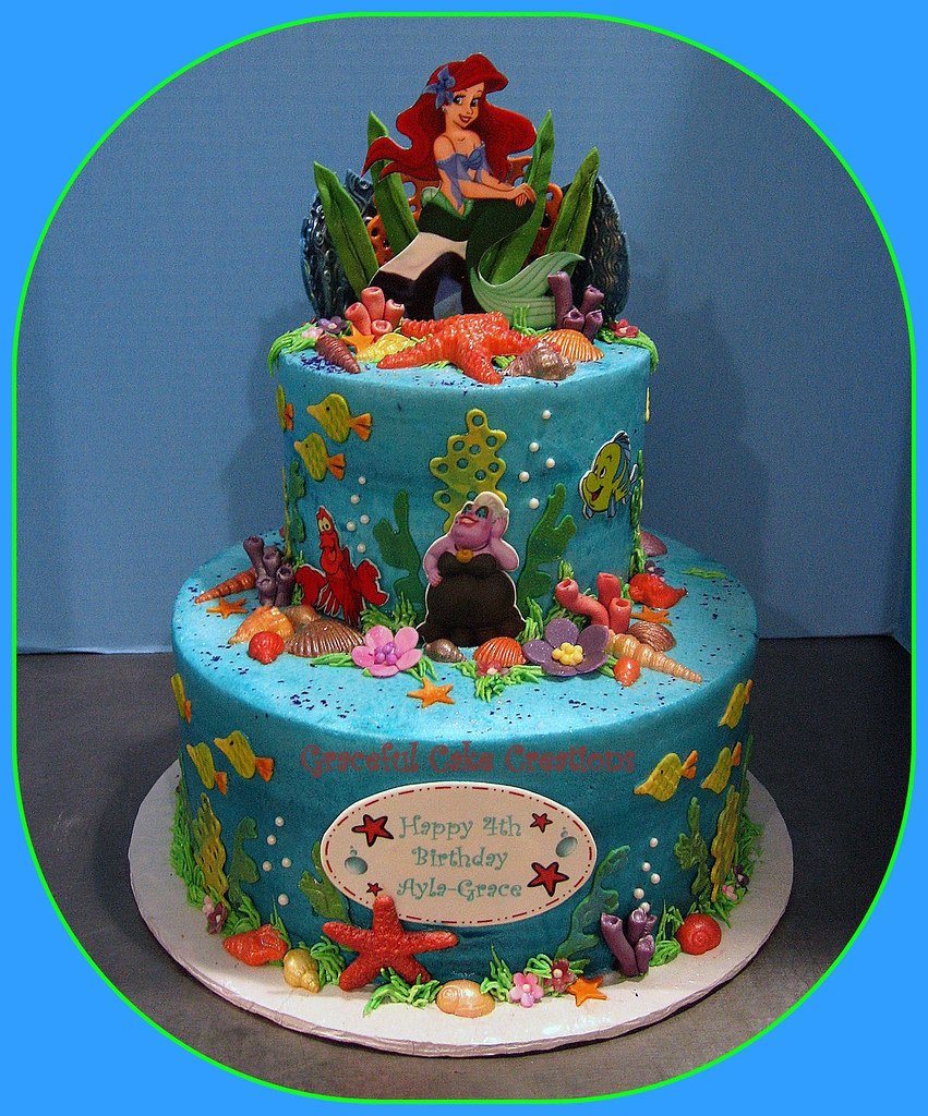 Ariel Cake Ideas Pictures