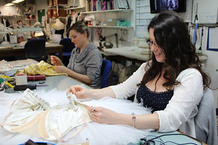 Soraya Parsa working behind-the-scenes at the Costume Department.  © ROH 2012 | by Royal Opera House Covent Garden