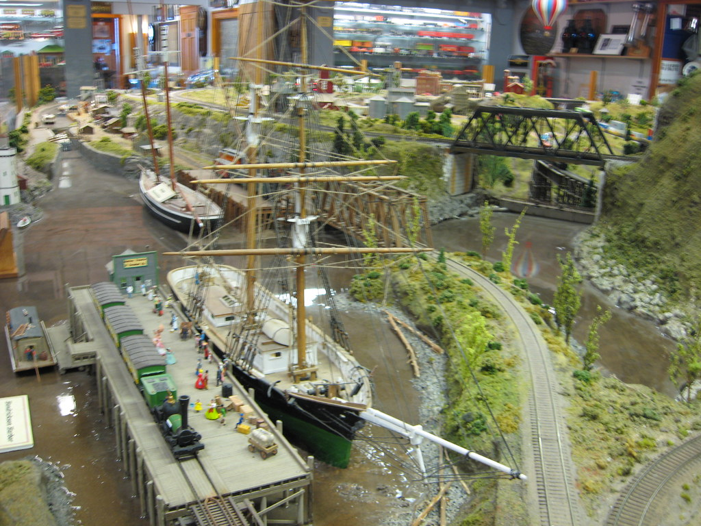 Medina railroad museum ho scale model train layout flickr - Ho scale layouts for small spaces concept ...
