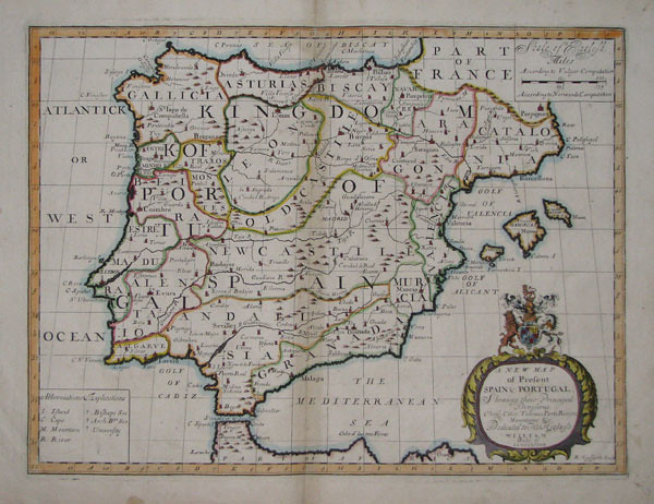 1700 New Map A New Map Of Present Spain Portugal Shew Flickr