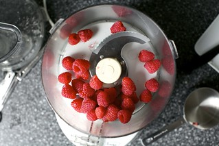 pureeing raspberries for a natural pink | by smitten kitchen
