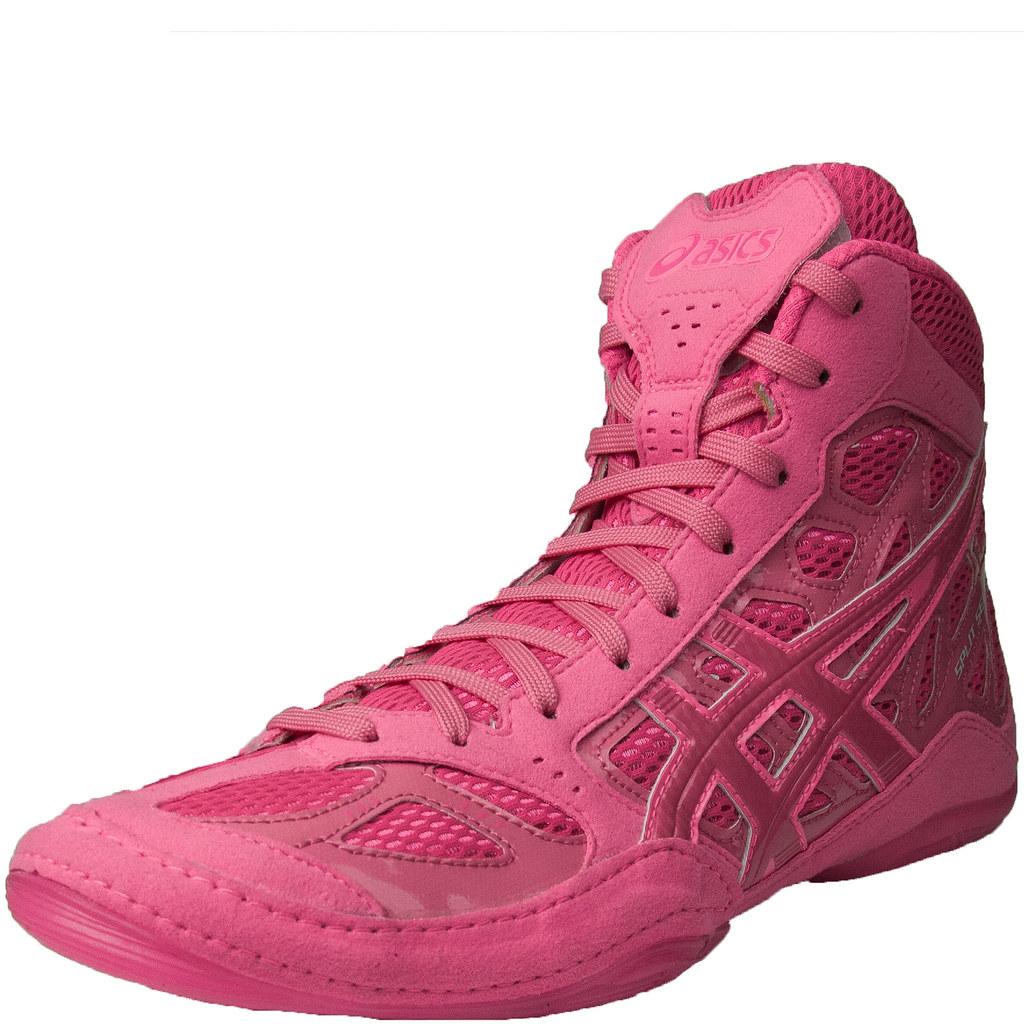 asics pink wrestling shoes