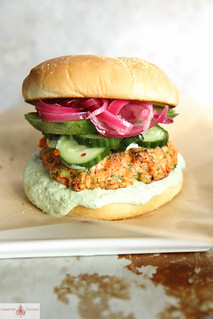 Asian Salmon Burger | by Heather Christo