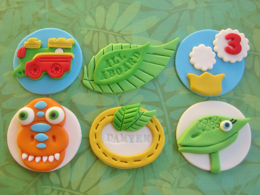Dinosaur Train Cupcake Toppers Lynlee Flickr
