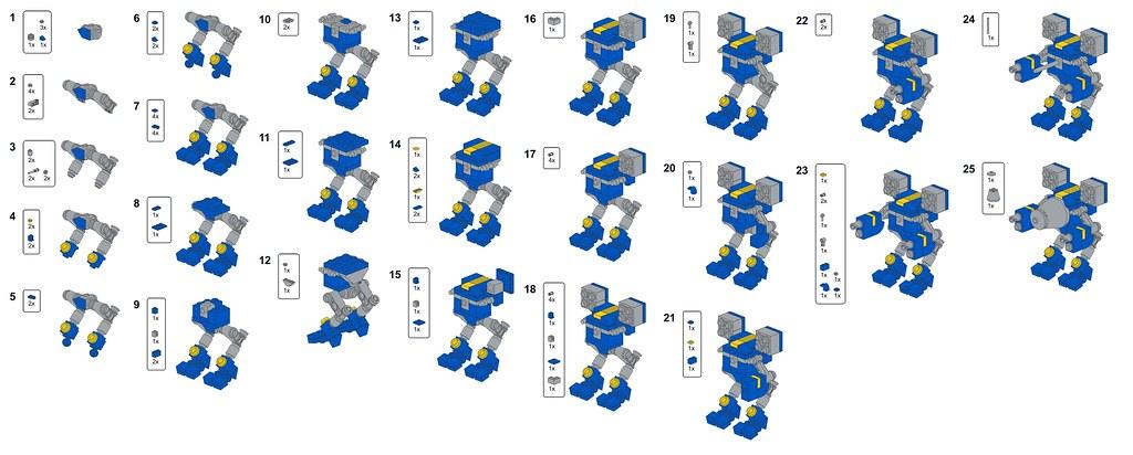 Free Lego Instruction Cat