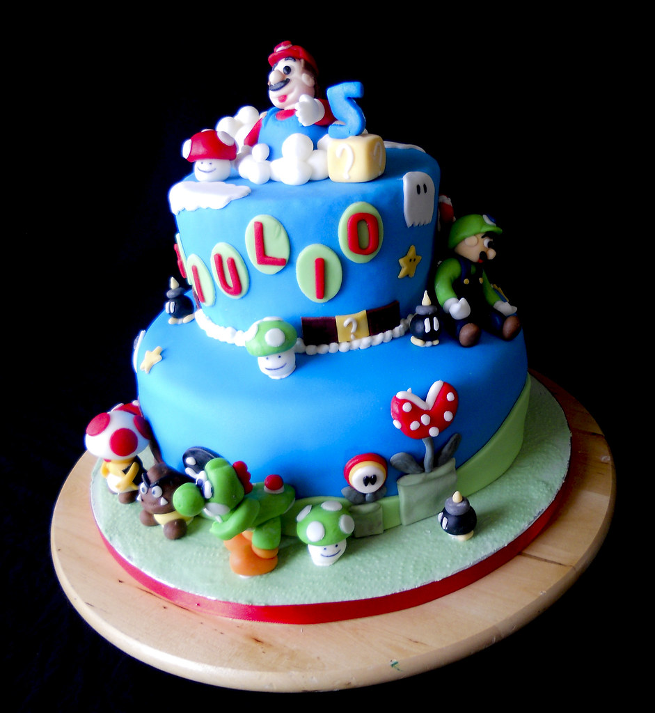 torta super mario le torte di alice flickr. Black Bedroom Furniture Sets. Home Design Ideas