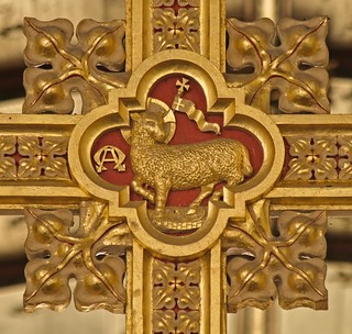 Chedzoy - Cross above the Rood Screen - Agnus Dei | by David Cronin