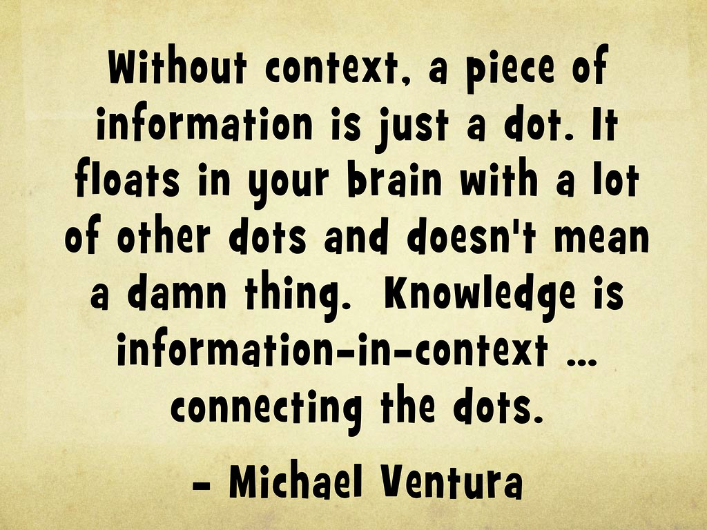 knowledge is information in context connecting the dots flickr