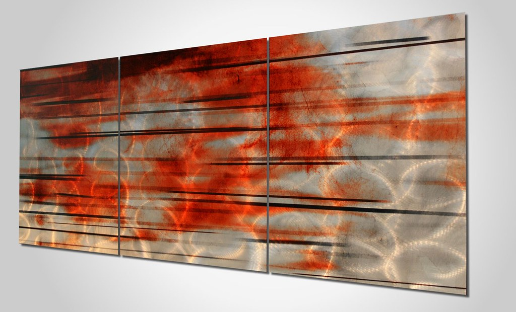 ... Contemporary Silver Orange Wall Art | By Moderncrowd