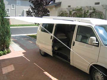 Shady Boy Awning Installed On A VW Eurovan