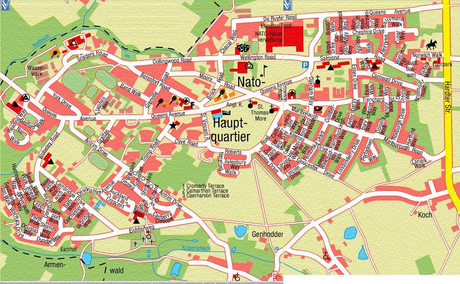 Jhq Rheindahlen Streetmap I Lived In Portadown Way