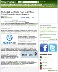 Technorati: Mucker Lab and Mozilla Team-up on Open-Source Startup Accelerator Program (06/30/2012)