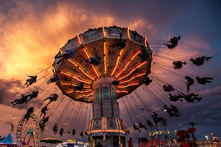 Salem Fair Carnival Ride Silhouettes [EXPLORED] | by curtisWarwick