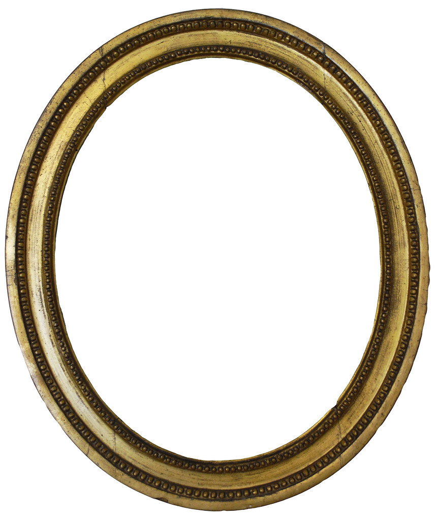 Gold Oval Frame | Please use this object or texture in your … | Flickr
