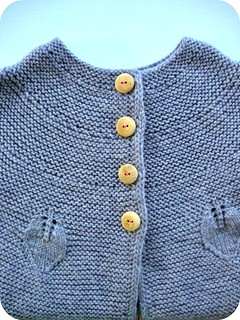 Wooden buttons and knitted leaves. :) | by lille-ursus