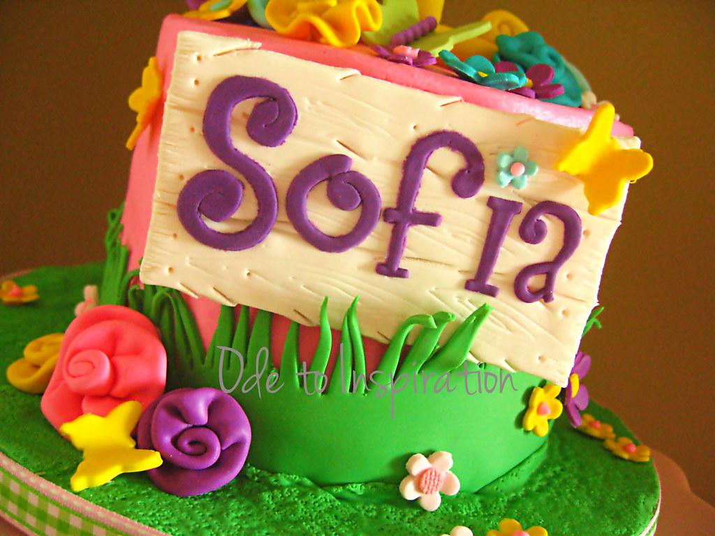 Flower garden birthday cake maysem hammad flickr flower garden birthday cake by ode to inspiration izmirmasajfo