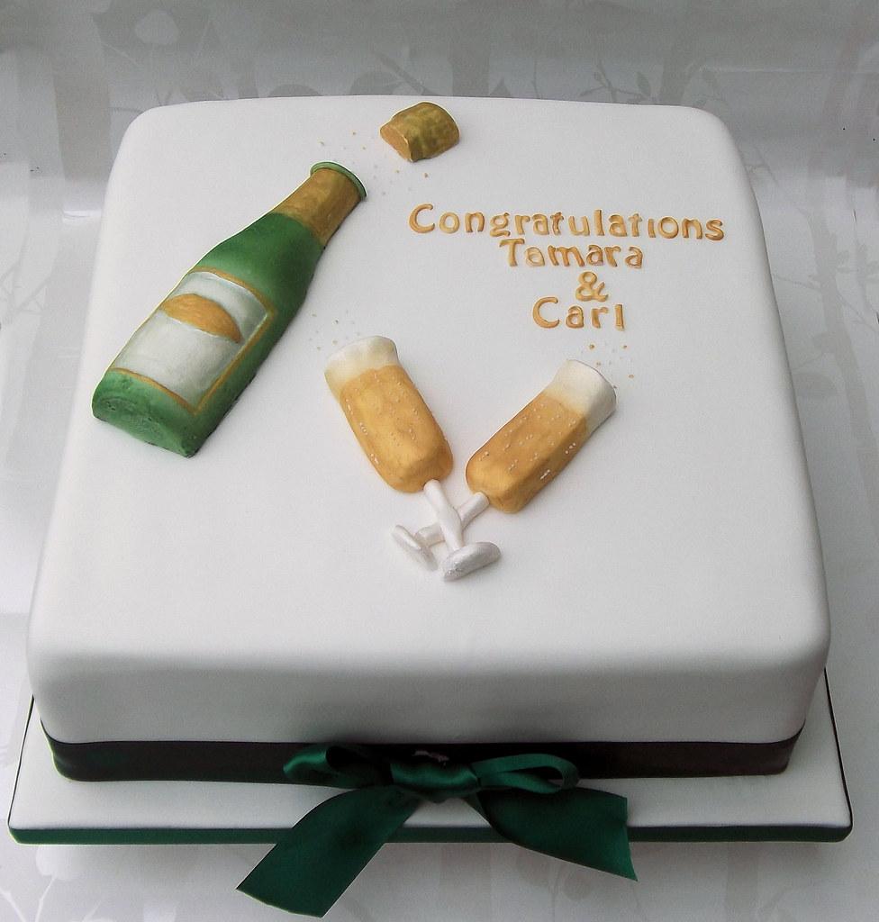 Champagne Bottle Cake Decoration