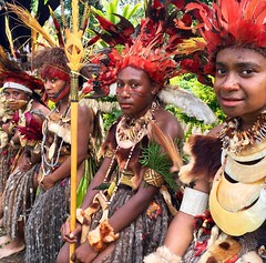 Wedding in the highlands of Papua New Guinea today. These are the bridesmaids. #png