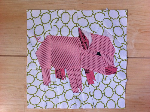 piglet block | by Spotted Stone Studio {Krista}