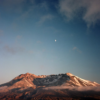 the moon serenades the mountain | by manyfires
