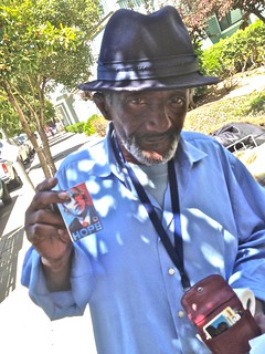 Card Carrying Obama Supporter, San Francisco | by Lynn Friedman