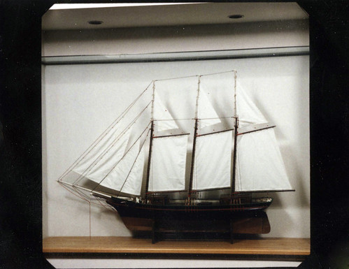Three-masted Schooner Model | by Watertown Free Public Library (MA)