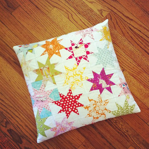 Pillow from @darcisews!  I love it!  I was hoping it was for me!  Thank you! | by FashionedbyMeg