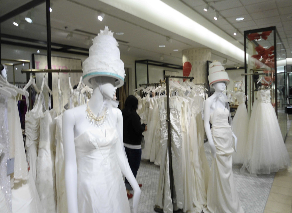 Nordstrom bridal suite, with fun Wedding Cake Hats as a di… | Flickr