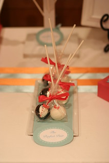 Bride and Groom Cake Pops as Favors | by Sweet Lauren Cakes