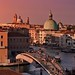 A rich and rosy sunset over Venezia