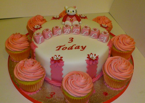 Hello Kitty 3rd Birthday Cake | by LizzieQ Creations