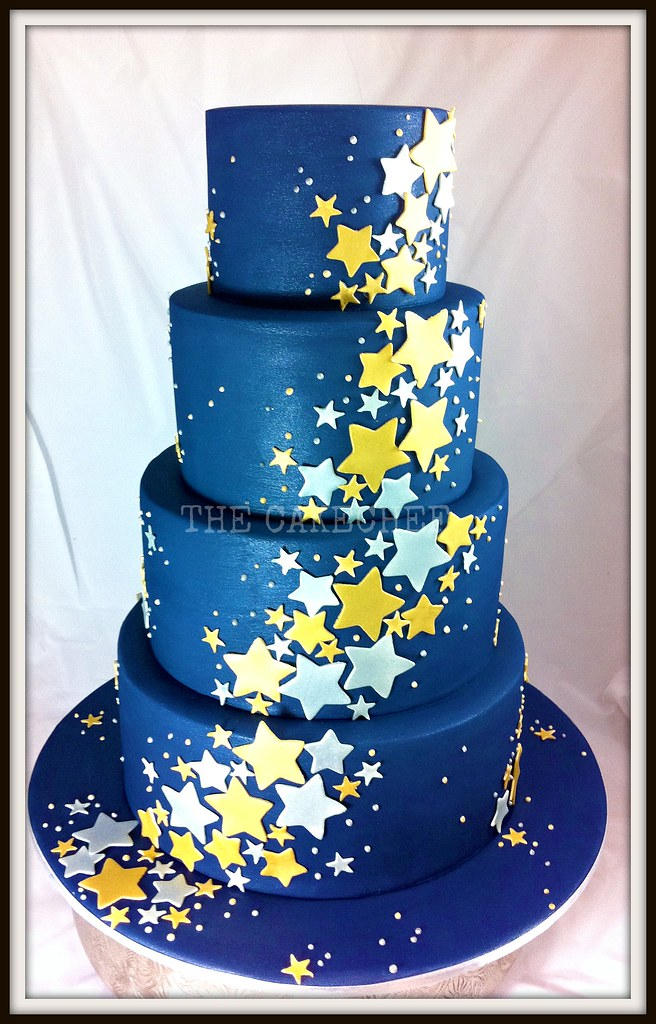 Starry Starry Night | A very \'non traditional\' Wedding cake!… | Flickr