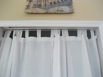 tension rod and tabbed curtains 2 panels carol creech flickr