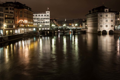 Zurich shot at night with long exposure | by m1chael800