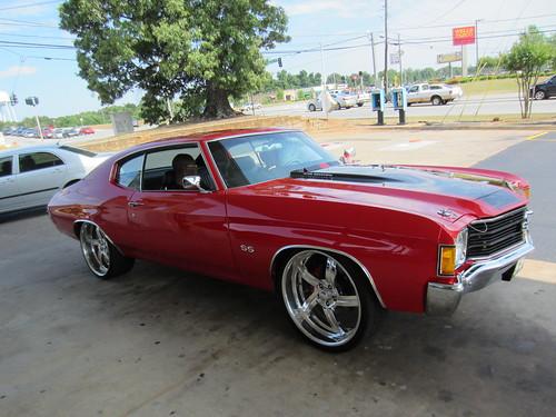 "New Chevy Malibu >> Red Chevelle 22"" Billet wheels   WADE   Flickr"