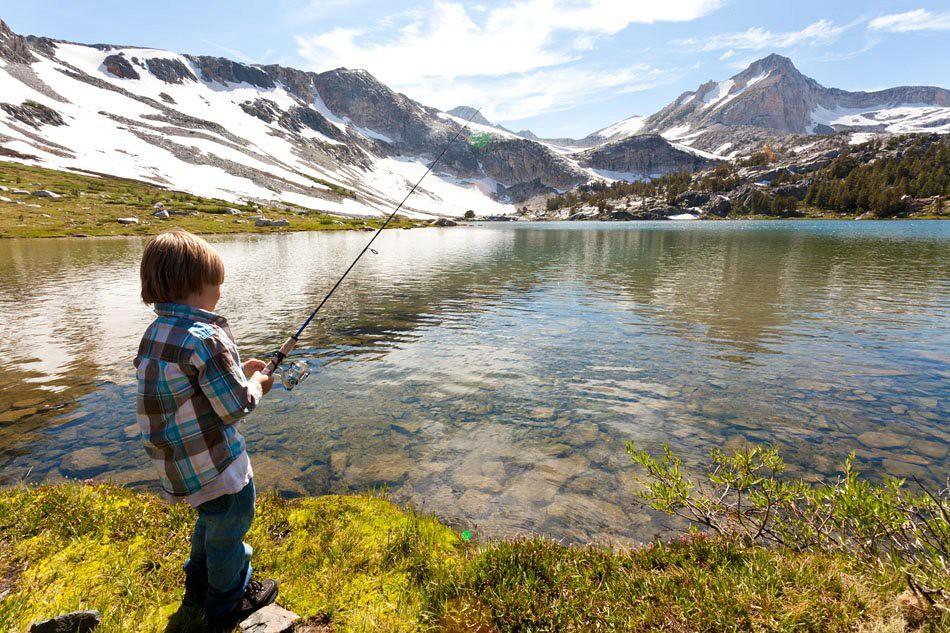Gabe fishing high sierra my boy gabriel fishing for Sierra fish in english