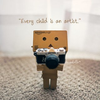 The problem is staying an artist when you grow up. - Pablo Picasso | by moobelle*