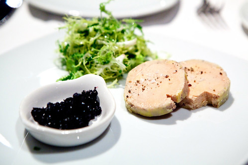 Cold Poached Foie Gras, Black Pepper, Sea Salt, Huckleberry Compote ($20) | by thewanderingeater