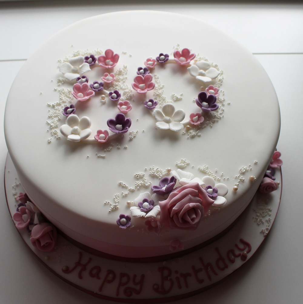 Birthday Cake Design For A Mother : 80th birthday cake Jill Chant Flickr
