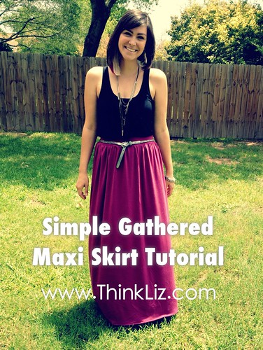 Simple Gathered Maxi Skirt | by elizabethmariecarroll