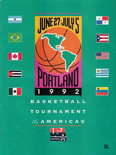 1992 Basketball Tournament of the Americas - Portland, OR - June 27 - July 5, 1992 | by Paxton Holley
