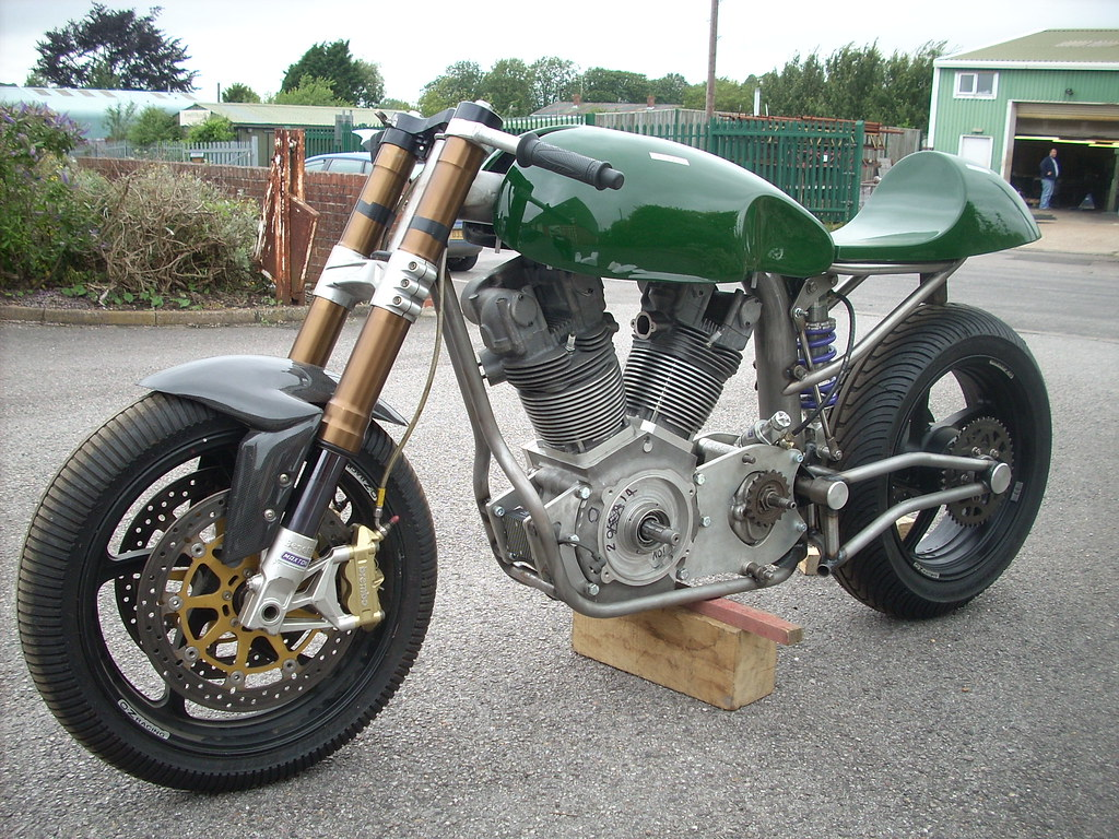 Jap V Twin Bike With Redmax Cafe Racer Tank N Seat In