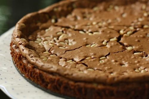 Flourless chocolate tahini cake with pinenuts | Flourless ...