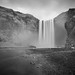Iceland's Falls B&W