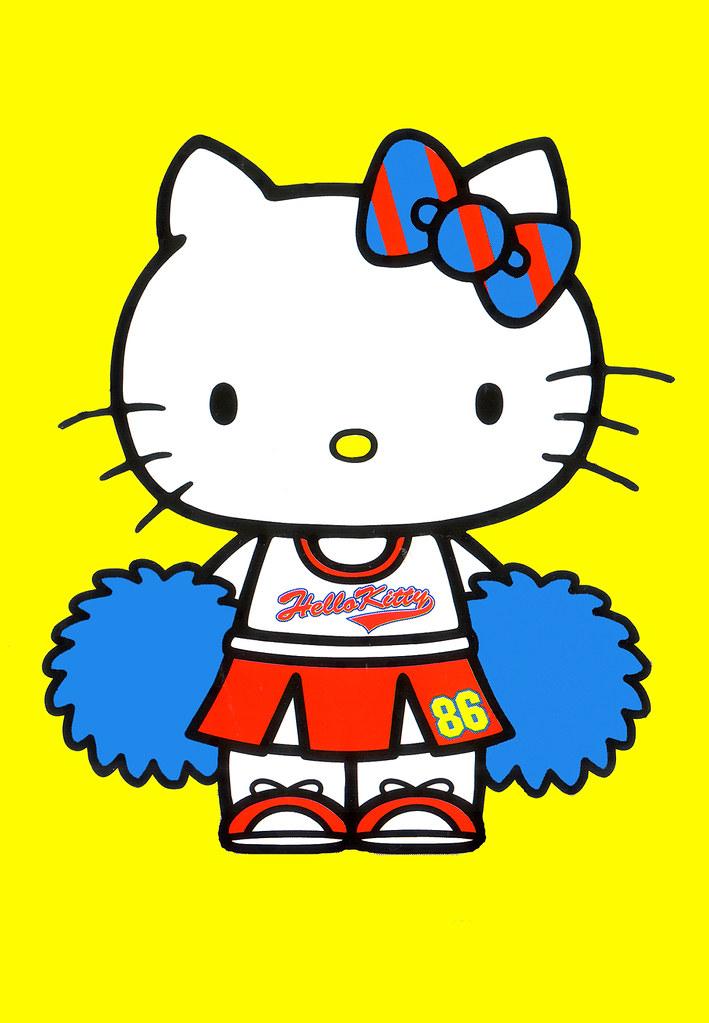 Hello Kitty Cheerleader Coloring Pages : Kitty the cheerleader jay tilston flickr