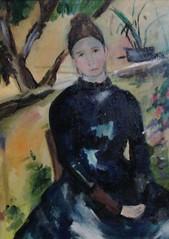 woman seated cezanne Frank Justin Gonski Art