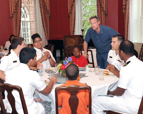 Governor and Mrs. O'Malley host Naval Academy Big Brothers Big Sisters at Government House | by MDGovpics