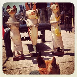 Three Cat Statues & #olive | by jeffstevens199