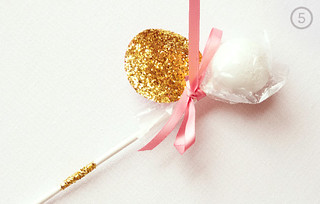 DIY Glittery Cake Pop Favor | by Sweet Lauren Cakes