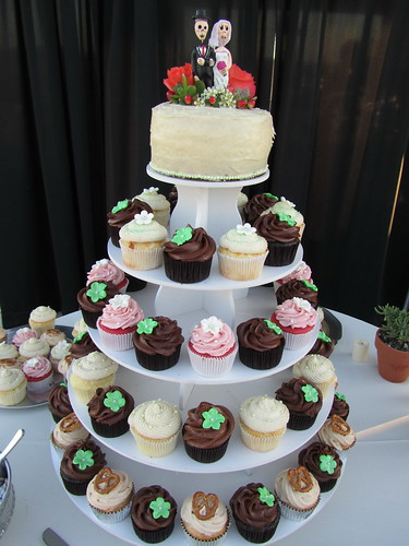 Desert Inspired Wedding Cupcake Tower | by OurLadyofCupcakes